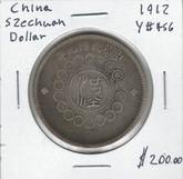 China: 1912 Szechuan Dollar
