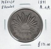 Mexico: 1891 8 Reales