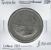 Toronto: 1884 Semi-Centennial Leroux 1817 Medallion
