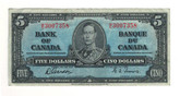 Canada: 1937 $5 Bank Of Canada M/C 3007358