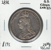 Great Britain: 1891 Crown #2