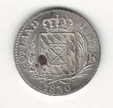 German States: Bavaria: 1830 6 Kreuzer