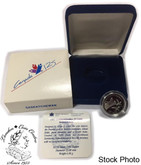Canada: 1992 25 Cent Saskatchewan Proof Sterling Silver Coin in Clamshell