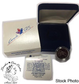 Canada: 1992 25 Cent New Brunswick Proof Sterling Silver Coin in Clamshell