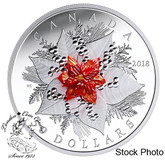 Canada: 2018 $50 Holiday Splendour 5 oz Pure Silver Coin