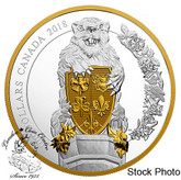 Canada: 2018 $100 Keepers of Parliament: The Beaver 10 oz. Pure Silver Gold-Plated Coin