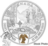 Canada: 2018 $20 Battlefront Series: Canada's Hundred Days 1 oz. Pure Silver Selectively Gold-Plated Coin