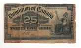 Canada: 1923 25 Cent Banknote Dominion of Canada Boville