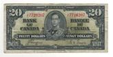 Canada: 1937 $20 Bank Of Canada Banknote BC-25c Lot#7