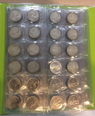 Canada: 1953 - 2007 25 Cent Quarters Collection Kaskade Folder 96 Coins