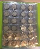 Canada: 1953 - 2007 25 Cent Quarters Collection Kaskade Folder 96 Coins