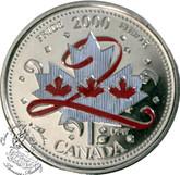 Canada: 2000 25 Cent Pride Coloured Coin in 2x2