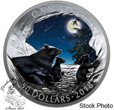 Canada: 2018 $50 Nature's Light Show: Moonlit Tranquility Fine Silver Coin