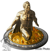 Canada: 2018 $100 Superman™: The Last Son of Krypton 10 oz. Pure Silver Gold-Plated Coin