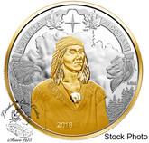 Canada: 2018 $25 250th Anniversary of Tecumseh's Birth 1 oz. Pure Silver Gold Plated Piedfort