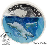 Canada: 2018 $30 Dimensional Nature: Polar Bears Fine Silver Coin
