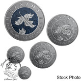 Canada: 2019 A Bicentennial Celebration Pure Silver 5-Coin Maple Leaf Fractional Set