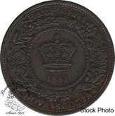 Canada: Nova Scotia 1861 1/2 Cent EF40