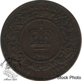 Canada: Nova Scotia 1861 Large 1 Cent Small Bud VF20