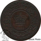 Canada: Nova Scotia 1861 Large 1 Cent Small Bud AU50