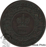 Canada: Nova Scotia 1864 Large 1 Cent F12