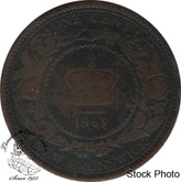Canada: New Brunswick 1861 Large 1 Cent VG8