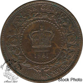 Canada: New Brunswick 1861 Large 1 Cent AU50