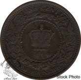 Canada: New Brunswick 1864 Large 1 Cent Short 6 EF40