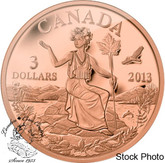 Canada: 2013 $3 An Allegory Bronze Coin