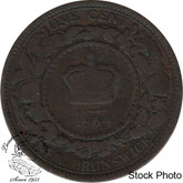 Canada: New Brunswick 1864 Large 1 Cent Long 6 G4