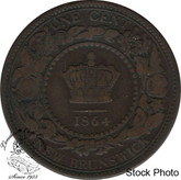 Canada: New Brunswick 1864 Large 1 Cent Long 6 VG8