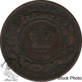 Canada: New Brunswick 1864 Large 1 Cent Long 6 F12
