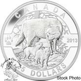 Canada: 2013 $25 The Wolf O Canada Series Pure Silver Coin