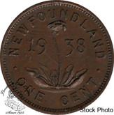 Canada: Newfoundland 1938 Small Cent EF40