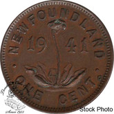 Canada: Newfoundland 1941c Small Cent VF20