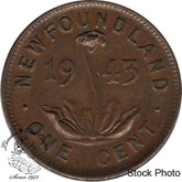 Canada: Newfoundland 1943c Small Cent VF20