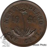 Canada: Newfoundland 1944c Small Cent AU50
