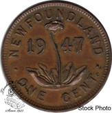 Canada: Newfoundland 1947c Small Cent EF40