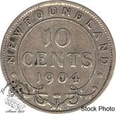 Canada: Newfoundland 1904H 10 Cent VG8