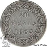 Canada: Newfoundland 1865 20 Cent VG8