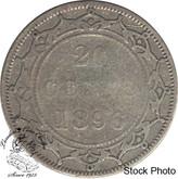 Canada: Newfoundland 1896 20 Cent Large 96 VG8