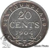 Canada: Newfoundland 1904H 20 Cent EF40