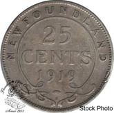 Canada: Newfoundland 1919c 25 Cent F12