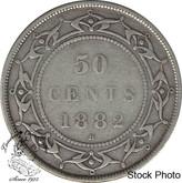 Canada: Newfoundland 1882H 50 Cent F12