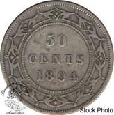 Canada: Newfoundland 1894 50 Cent F12