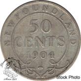 Canada: Newfoundland 1904H 50 Cent VG8