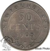Canada: Newfoundland 1908 50 Cent VG8