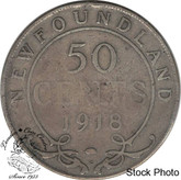Canada: Newfoundland 1918c 50 Cent G4