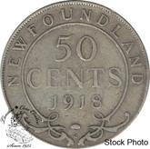 Canada: Newfoundland 1918c 50 Cent F12