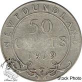 Canada: Newfoundland 1919c 50 Cent G4